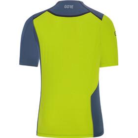 GORE WEAR R7 Shirt Men deep water blue/citrus green